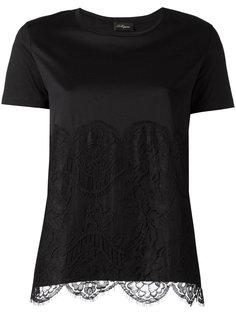 футболка с кружевной панелью Les Copains
