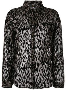 sheer animal print blouse The Kooples