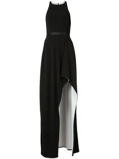slit leg long dress  Halston Heritage