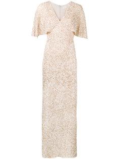длинное платье с рукавами-кап Krystina  Alice+Olivia