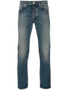 джинсы прямого кроя с потертой отделкой Harmony Paris