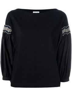 блузка с вышивкой на рукавах Moncler