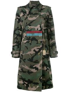 пальто в стиле милитари Valentino