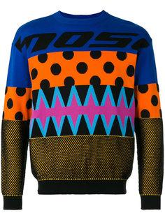 свитер с эффектом пэчворк Moschino