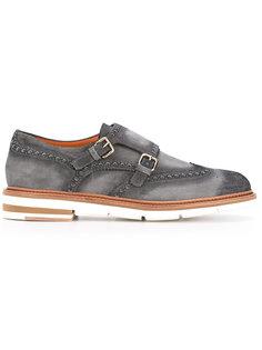 ботинки с ремешком с пряжками Santoni