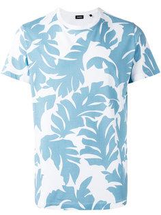 футболка с цветочным принтом Diesel