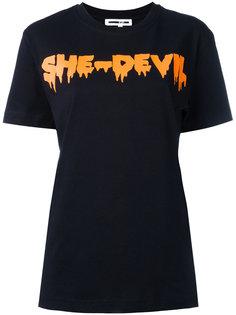 футболка с принтом-надписью McQ Alexander McQueen