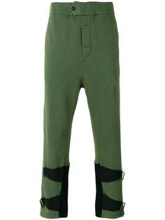 спортивные брюки с ремешками на щиколотках Ann Demeulemeester