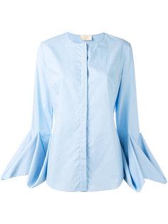 драпированная блузка с длинными рукавами Sara Battaglia