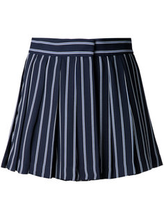high waist pleated stripe shorts Mikio Sakabe