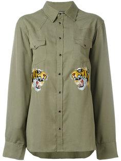 Рубашка с вышитым тигром Laneus