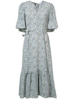 belted floral print dress  Co