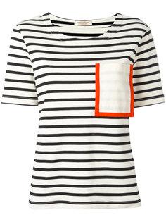 футболка с карманом и контрастной отделкой Erika Cavallini