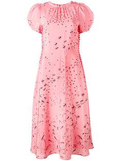 платье с рельефной окантовкой Valentino