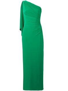 длинное платье на одно плечо Polo Ralph Lauren