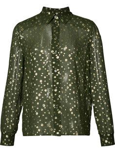 sheer spot shirt Vanessa Seward
