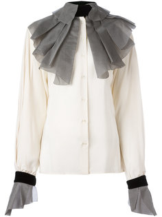 pleated collar and cuffs shirt Gianfranco Ferre Vintage