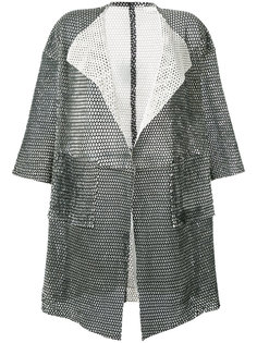 short-sleeve mesh coat Giorgio Brato