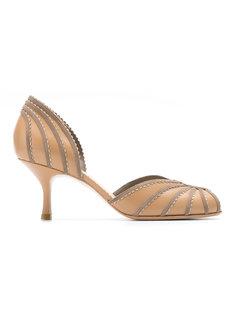 panelled kitten heel shoes Sarah Chofakian