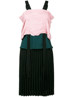 плиссированное платье Marco De Vincenzo