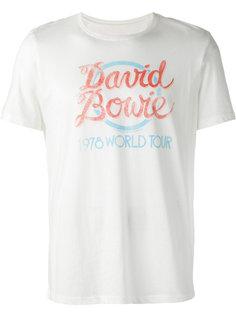 футболка с принтом-надписью John Varvatos
