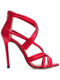 metallic strappy sandals Marc Ellis