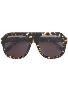 солнцезащитные очки visor с цепочной отделкой  Stella McCartney