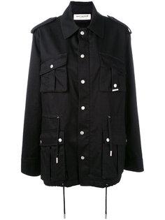 куртка милитари с карманами Saint Laurent