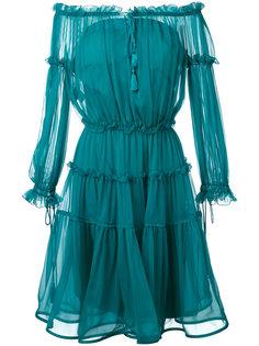 off-the-shoulder midi dress Alberta Ferretti