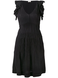 ruffled sleeves flared dress Masscob