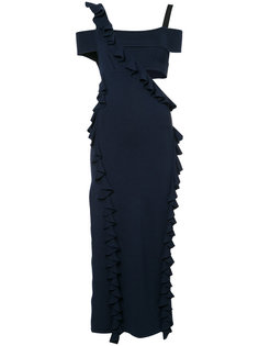 cut-out ruffle trim dress  Jason Wu