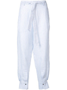 Parnas striped cropped trousers Nehera