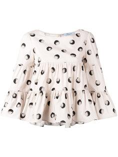 расклешенная блузка с рисунком Blumarine