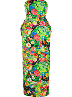 floral print strapless dress Rosie Assoulin