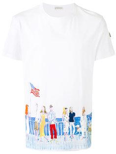 футболка с принтом People Moncler