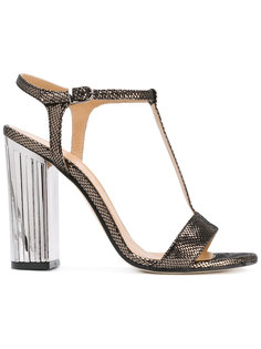 metallic heel T-bar sandals Marc Ellis