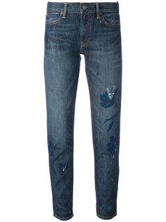 укороченные джинсы с цветочным принтом Polo Ralph Lauren