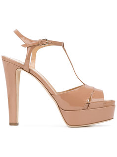 patent open toe sandals Sergio Rossi