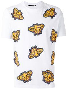 футболка с принтом пчел Love Moschino