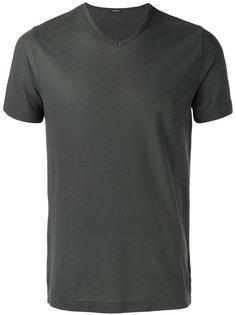 футболка с v-образным вырезом Zanone
