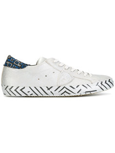 metallic decorative sole trainers Philippe Model