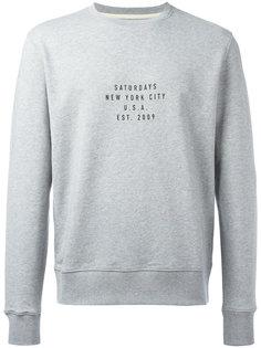 slogan print sweatshirt Saturdays Nyc