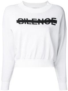 Silence logo sweatshirt  Anrealage