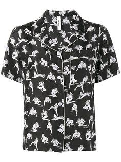 пижамная рубашка с принтом обнаженных женщин Adam Selman