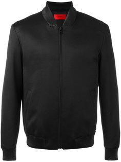 куртка-бомбер  с воротником в рубчик Boss Hugo Boss