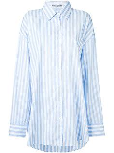 oversized candy stripe shirt Mikio Sakabe