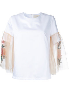 блузка с контрастными рукавами  Elaidi