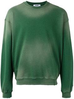 faded effect sweatshirt MSGM