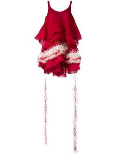 feather trim dress Antonio Berardi