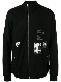 куртка  с комбинированным принтом Julius